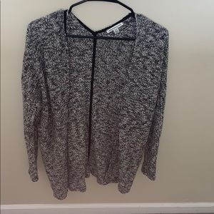 American eagle black and white cardigan